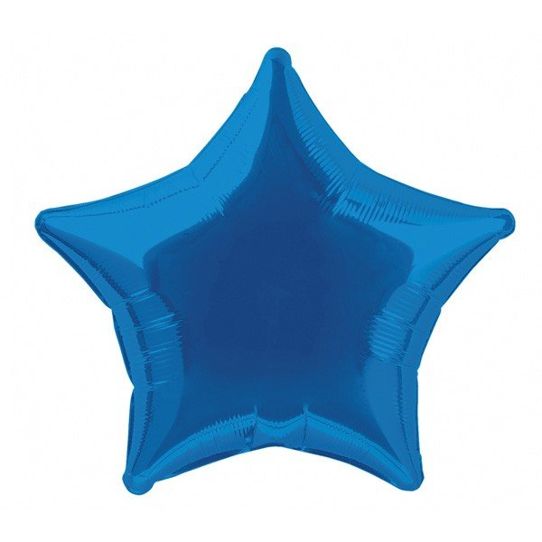 Unique Party 20 Inch Star Foil Balloon - Royal Blue