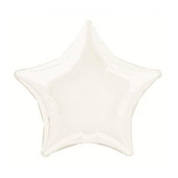 Unique Party 20 Inch Star Foil Balloon - White