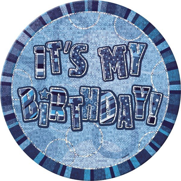 Unique Party 6 Inch Giant Badge - Blue