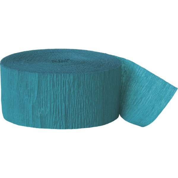 Unique Party 81 Foot Crepe Streamer - Teal Green