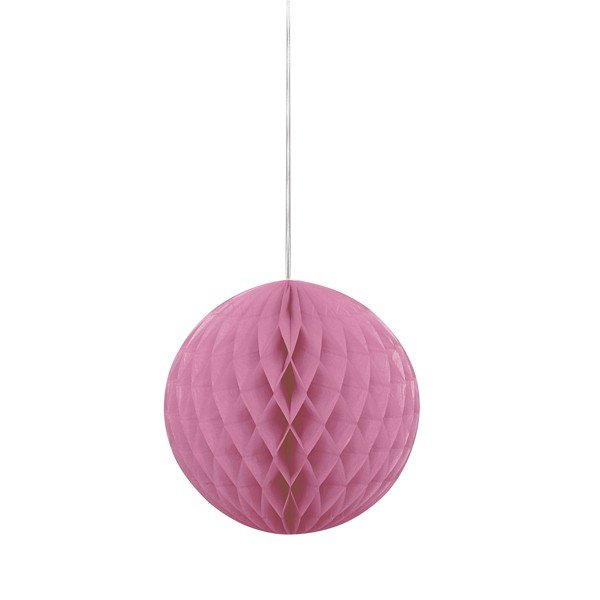 Unique Party 8 Inch Honeycomb Ball - Hot Pink