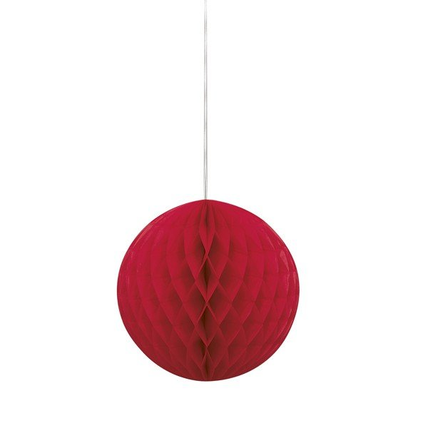 Unique Party 8 Inch Honeycomb Ball - Red