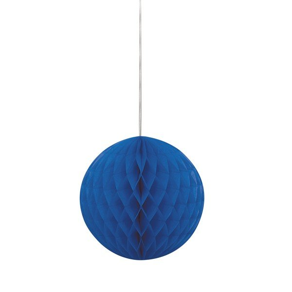 Unique Party 8 Inch Honeycomb Ball - Royal Blue