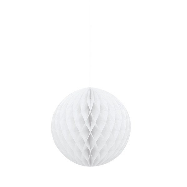 Unique Party 8 Inch Honeycomb Ball - White