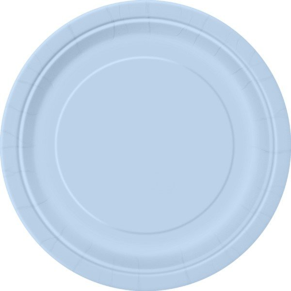 Unique Party 9 Inch Plates - Baby Blue