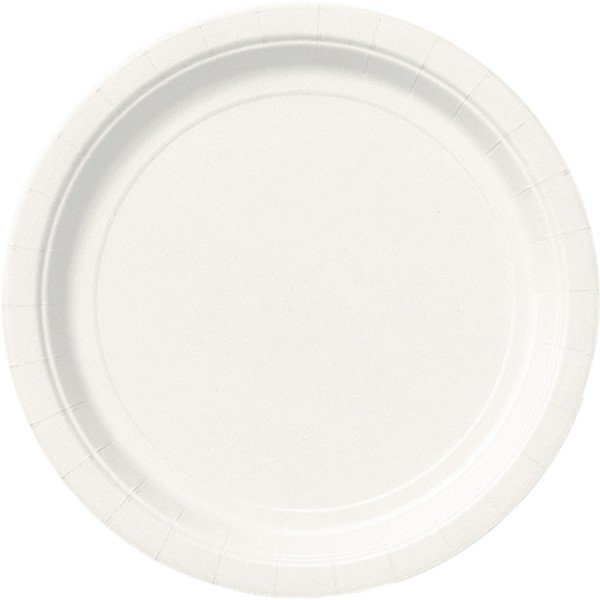 Unique Party 9 Inch Plates - Bright White
