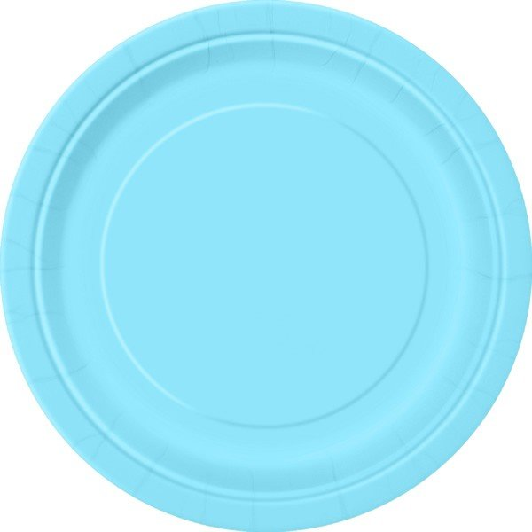 Unique Party 9 Inch Plates - Carribean Teal