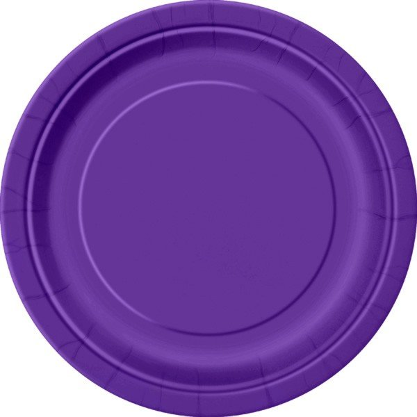 Unique Party 9 Inch Plates - Deep Purple