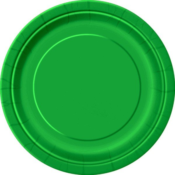 Unique Party 9 Inch Plates - Emerald Green