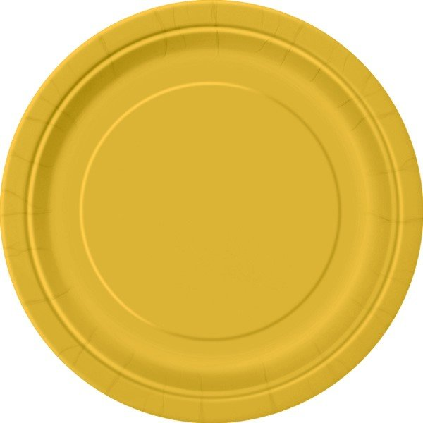 Unique Party 9 Inch Plates - Gold