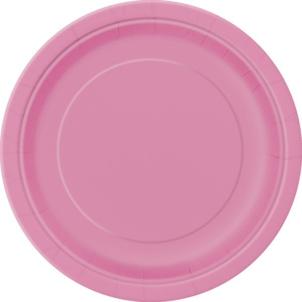 Unique Party 9 Inch Plates - Hot Pink