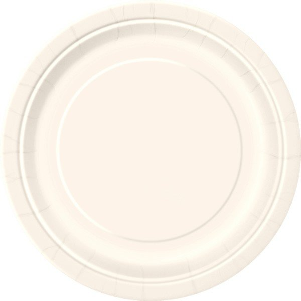 Unique Party 9 Inch Plates - Ivory