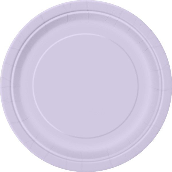 Unique Party 9 Inch Plates - Lavender