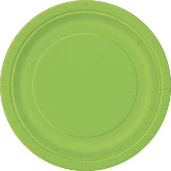 Unique Party 9 Inch Plates - Lime Green
