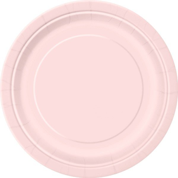 Unique Party 9 Inch Plates - Pastel Pink