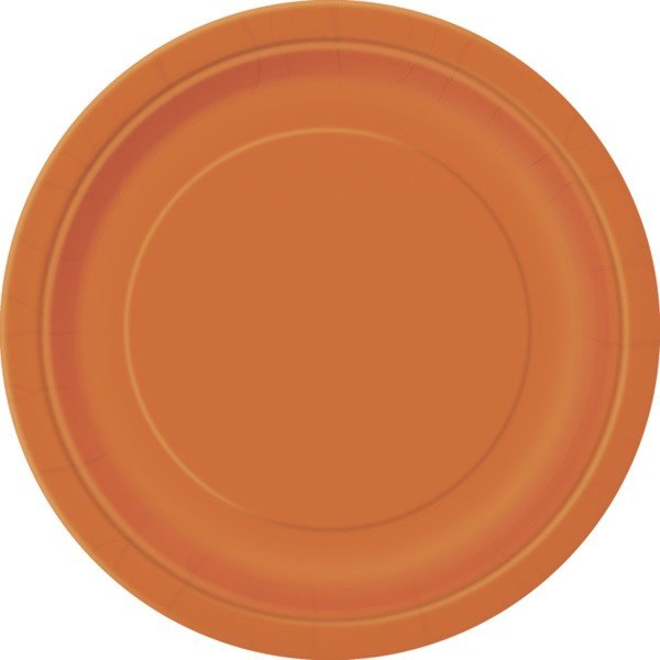 Unique Party 9 Inch Plates - Pumpkin Orange