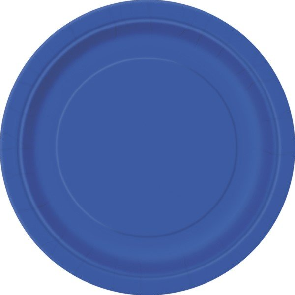 Unique Party 9 Inch Plates - Royal Blue