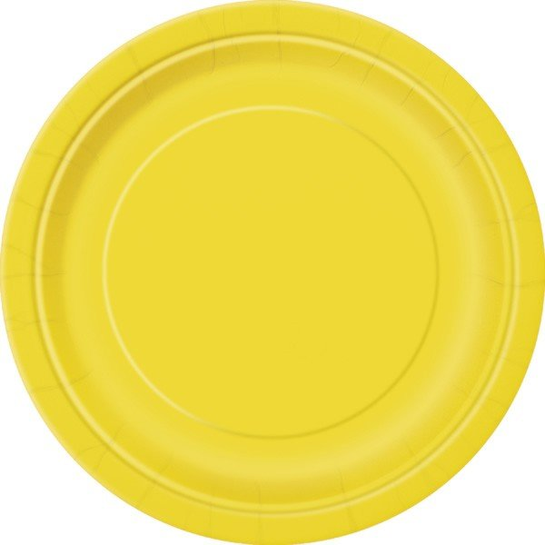 Unique Party 9 Inch Plates - Yellow