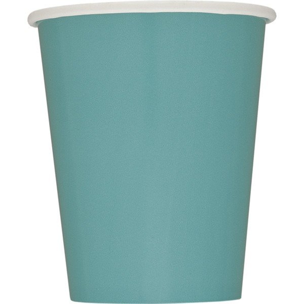 Unique Party 9oz Cups - Carribean Teal