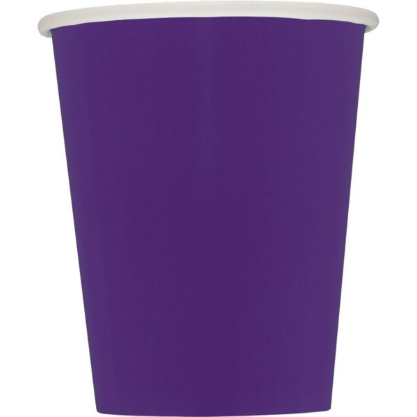 Unique Party 9oz Cups - Deep Purple