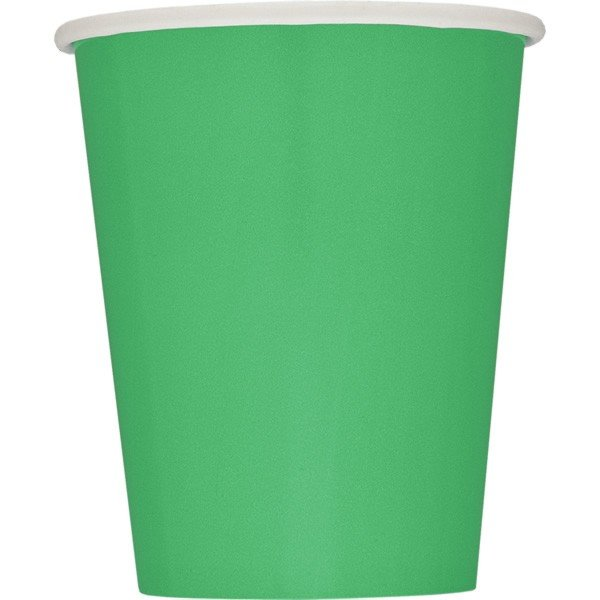 Unique Party 9oz Cups - Emerald Green