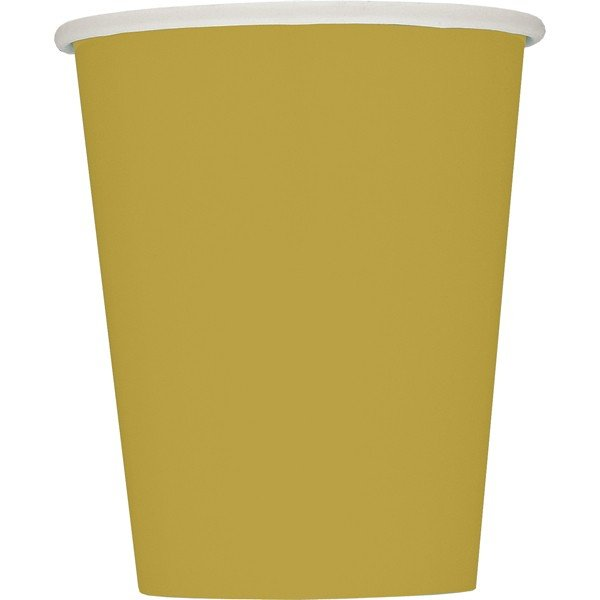 Unique Party 9oz Cups - Gold