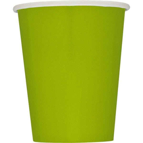 Unique Party 9oz Cups - Lime Green