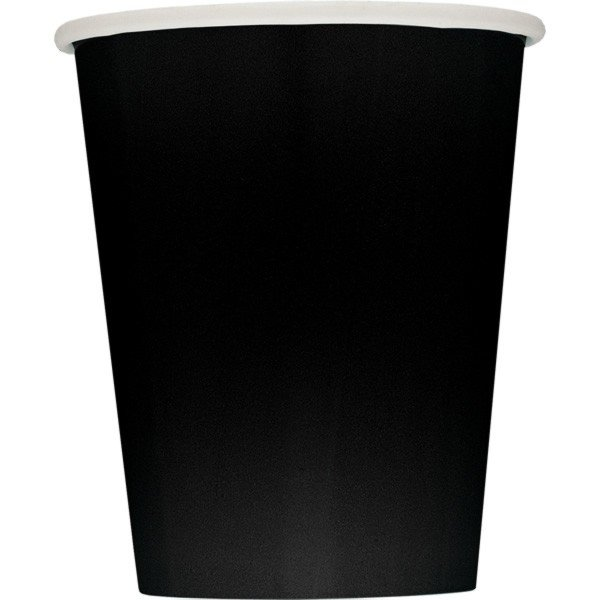 Unique Party 9oz Cups - Midnight Black