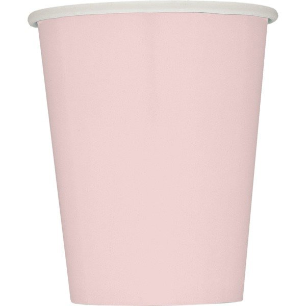 Unique Party 9oz Cups - Pastel Pink