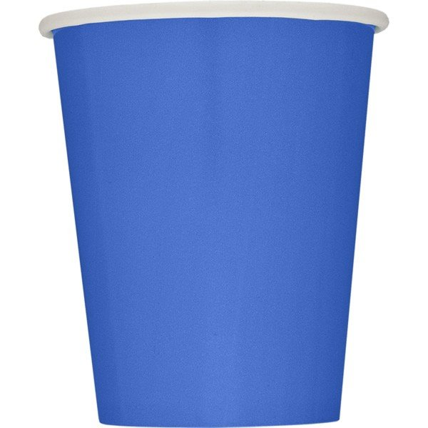 Unique Party 9oz Cups - Royal Blue