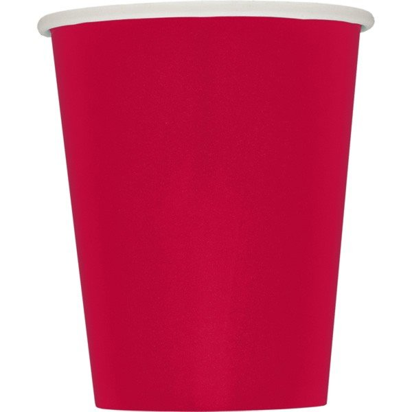Unique Party 9oz Cups - Ruby Red