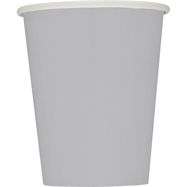 Unique Party 9oz Cups - Silver