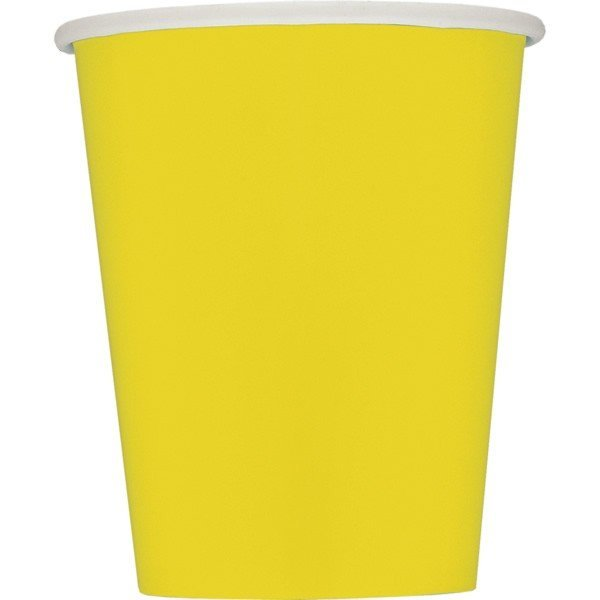 Unique Party 9oz Cups - Yellow