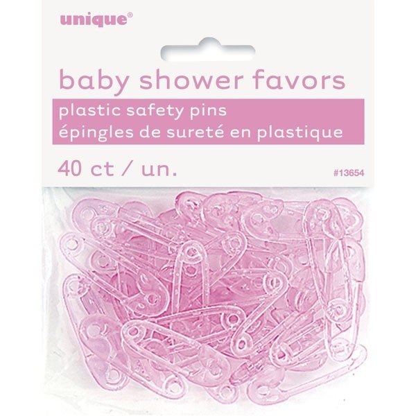 Unique Party Baby Shower Safety Pins - Pink