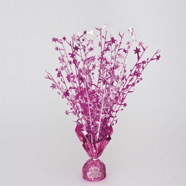 Unique Party Balloon Weight Centrepiece - Pink Stickers