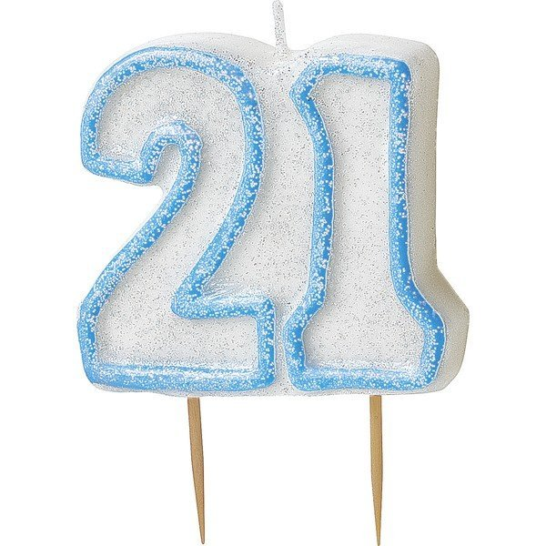 Unique Party Blue Number Candle - 21
