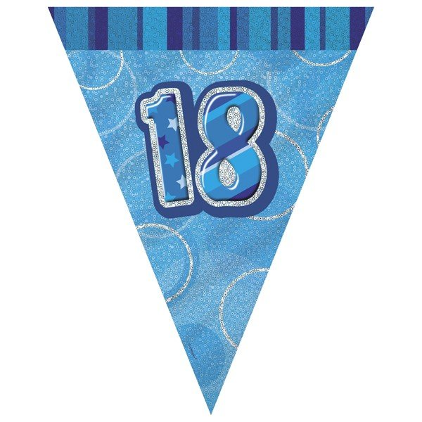 Unique Party Blue Pennant Bunting - 18