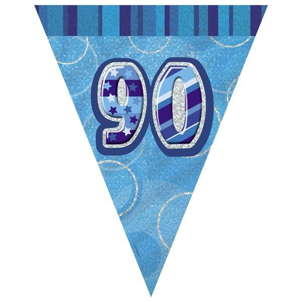 Unique Party Blue Pennant Bunting - 90