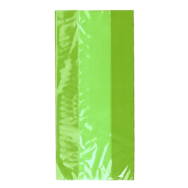 Unique Party Cello Bags - Lime Green