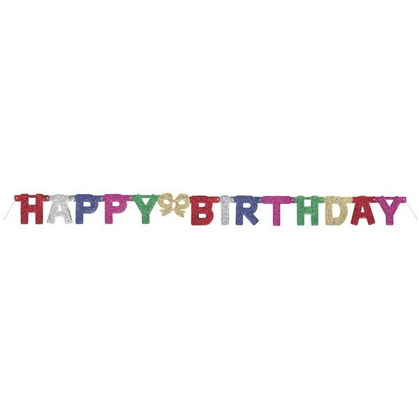 Unique Party Deluxe Letter Banner - Birthday