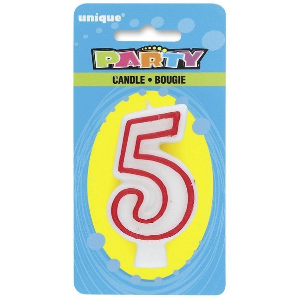 Unique Party Deluxe Number Candle - 5