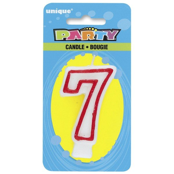 Unique Party Deluxe Number Candle - 7