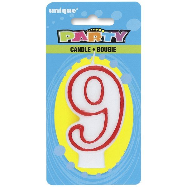 Unique Party Deluxe Number Candle - 9