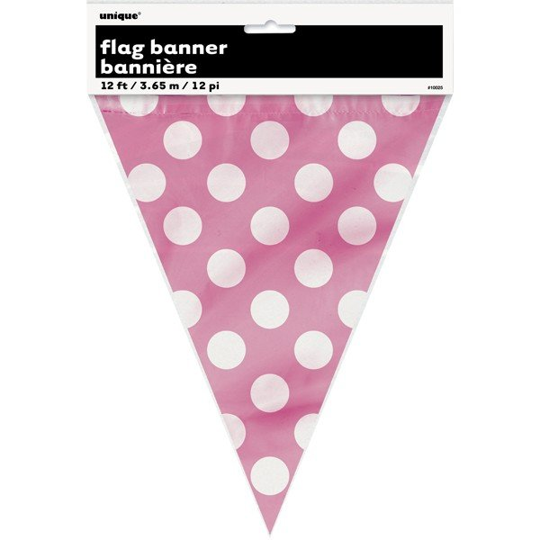 Unique Party Dots Bunting - Hot Pink
