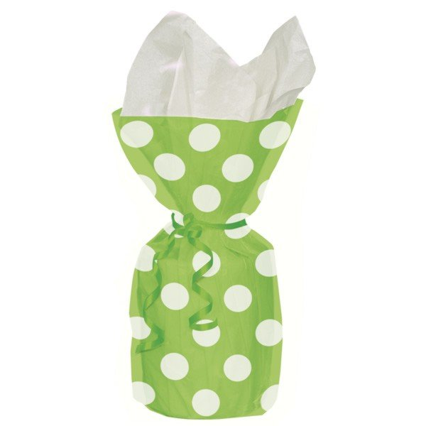 Unique Party Dots Cello Bags - Lime Green