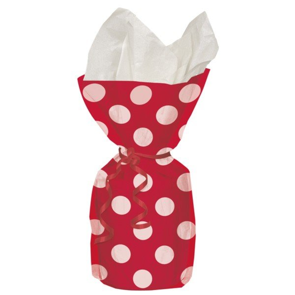 Unique Party Dots Cello Bags - Red