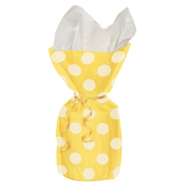 Unique Party Dots Cello Bags - Yellow