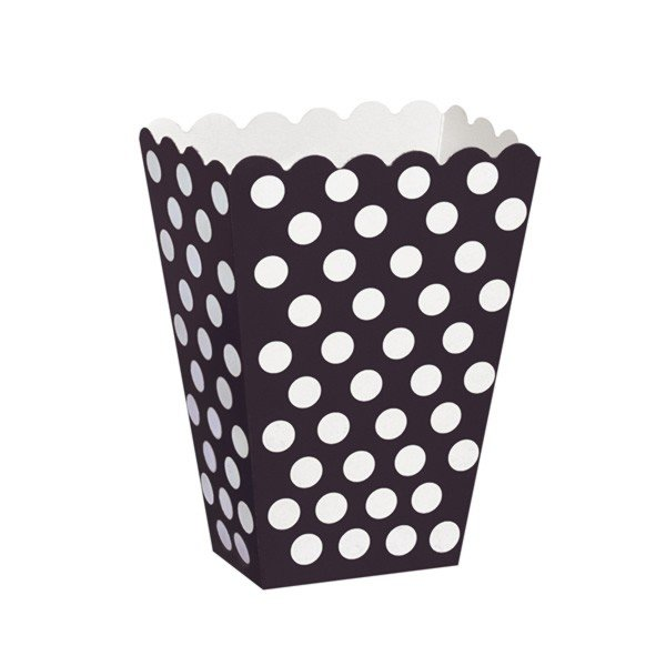 Unique Party Dots Treat Boxes - Black
