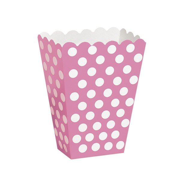 Unique Party Dots Treat Boxes - Hot Pink