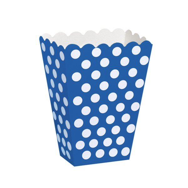 Unique Party Dots Treat Boxes - Royal Blue